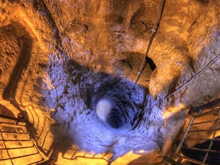 derinkuyu underground city ventilation well photo by nevit dilmen