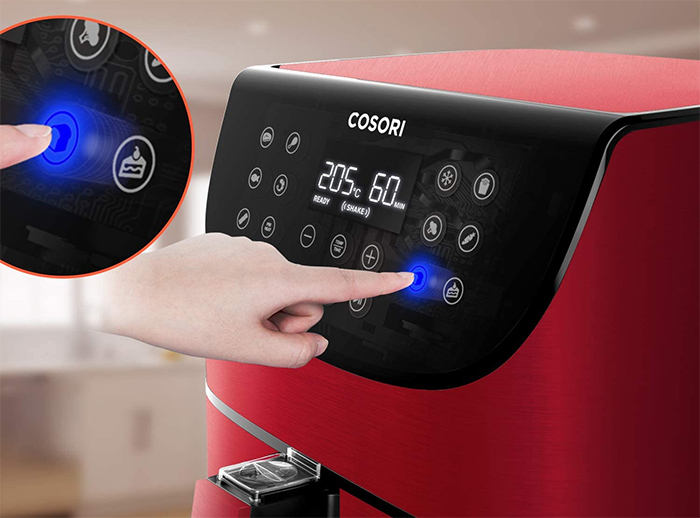 digital air fryer one touch led display