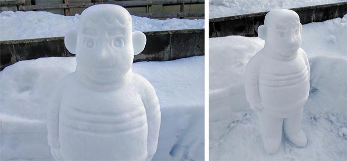 doraemon takeshi goda sculpted ice figure