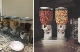 double cereal dispenser silver