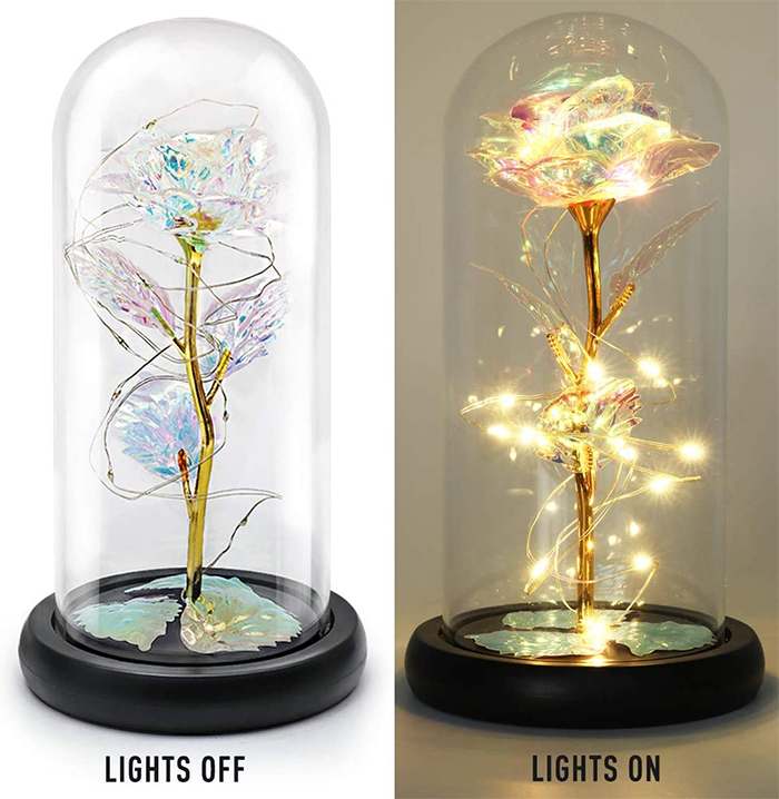 enchanted flower lamp champagne gold