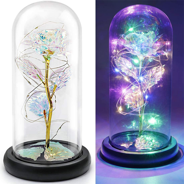 enchanted flower lamp colorful gold