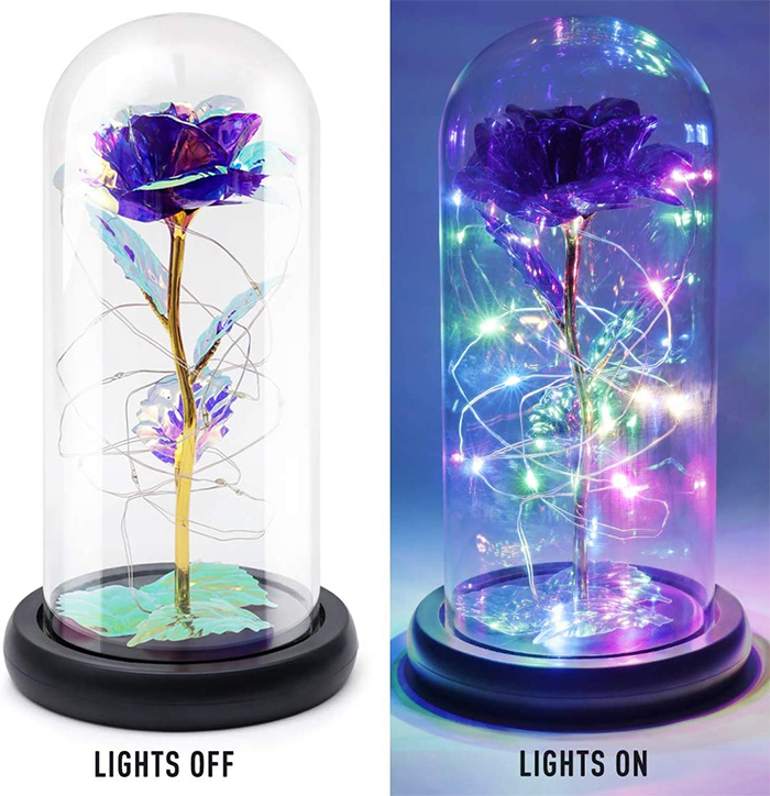 enchanted flower lamp purple