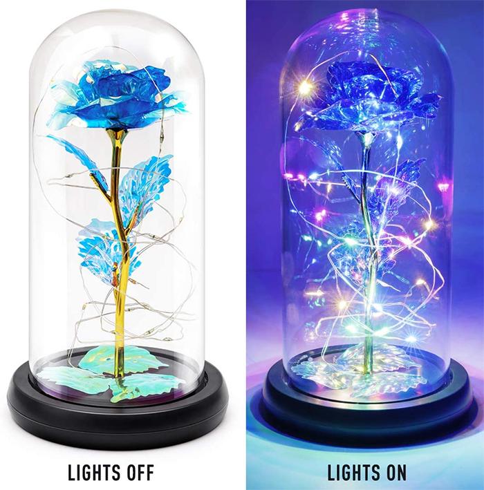 enchanted flower lamp royal blue