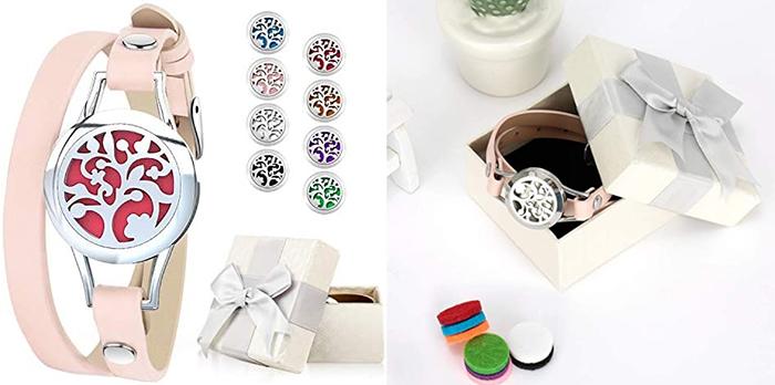 essential oil diffuser bracelet tree locket