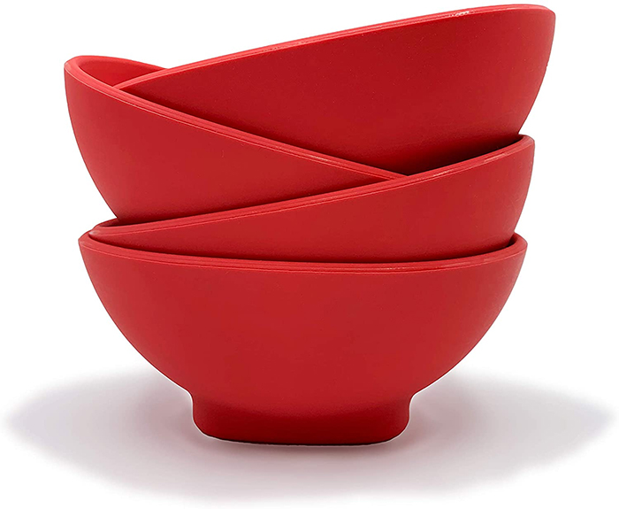 flexible silicone bowls stackable design