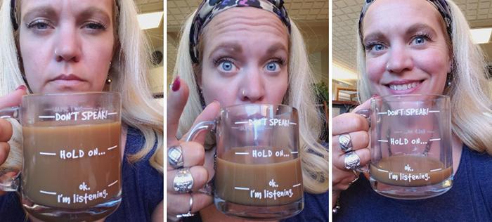 funny coffee mug witty print