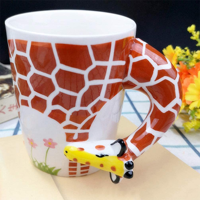 giraffe neck animal coffee mugs
