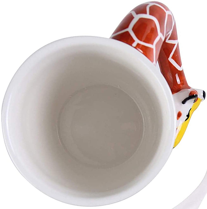 giraffe neck handle ceramic cup