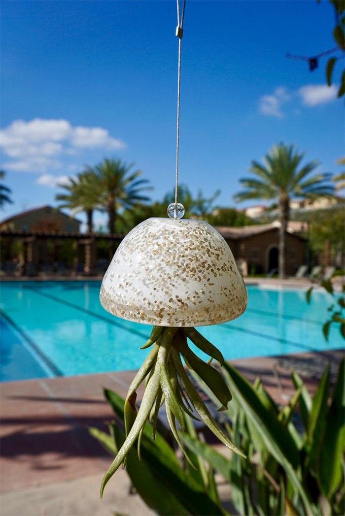 glass jellyfish air planter