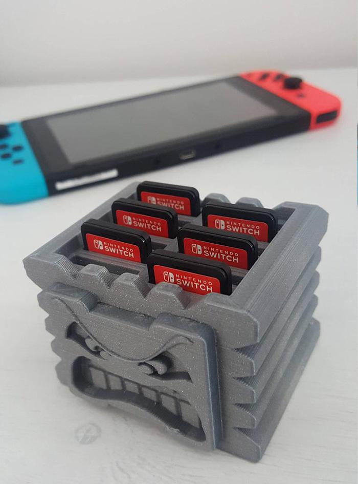 handydans3dprints thwomp nintendo switch game cartridge holder