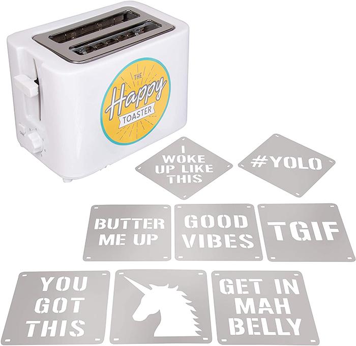 happy toaster design plates