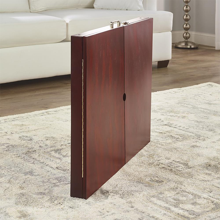 hinged foldable tabletop compact