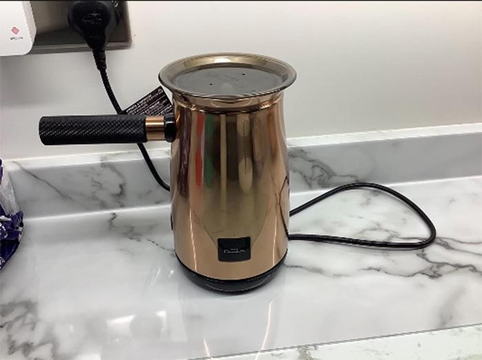 hot chocolate maker copper finish