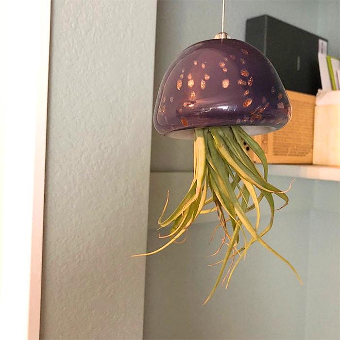 jellyfish air planter purple
