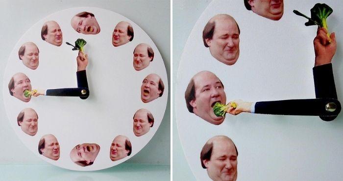 kevin hates broccoli clock