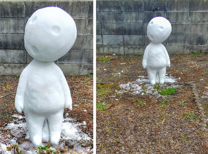 kodama snow sculpture
