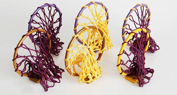 la lakers colors net and hoop