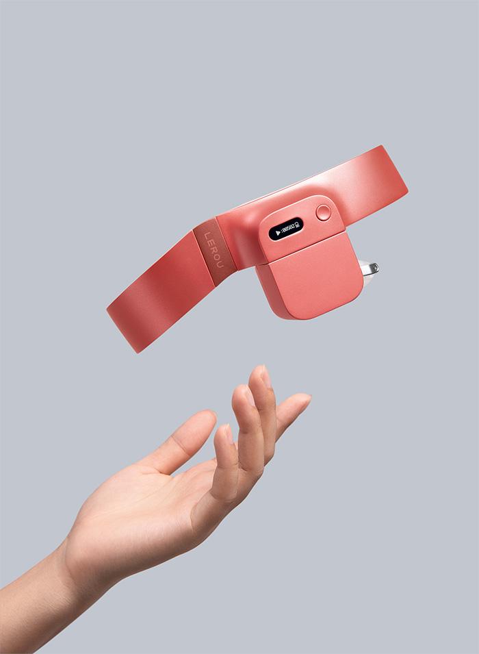 lerou head-mounted massage robot red