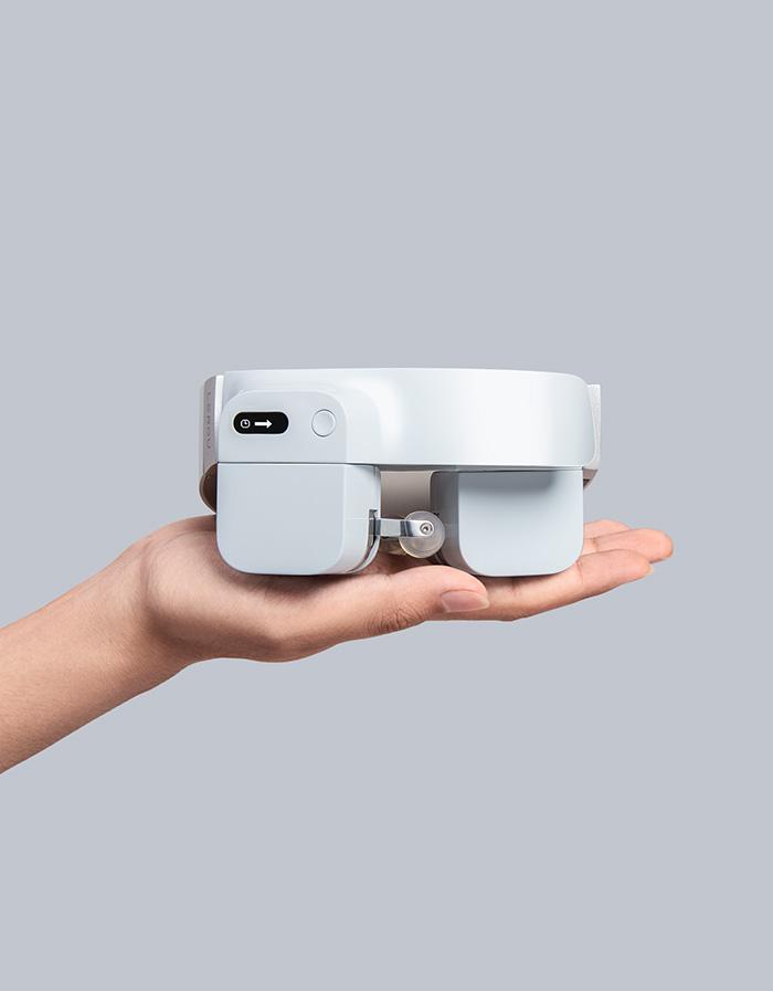 lerou head-mounted massage robot white