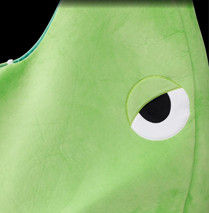 metapod sleeping bag eye closeup