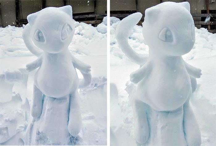 mew snow sculpture