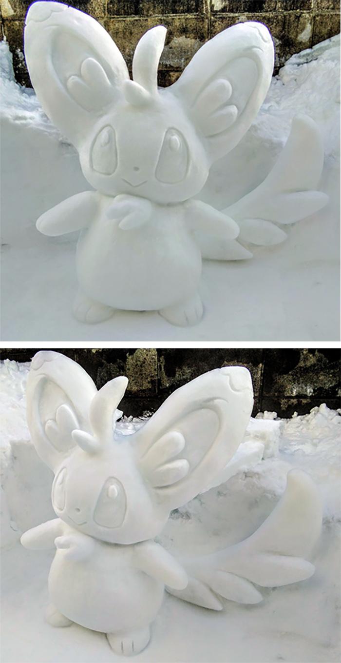 minccino snow sculpture