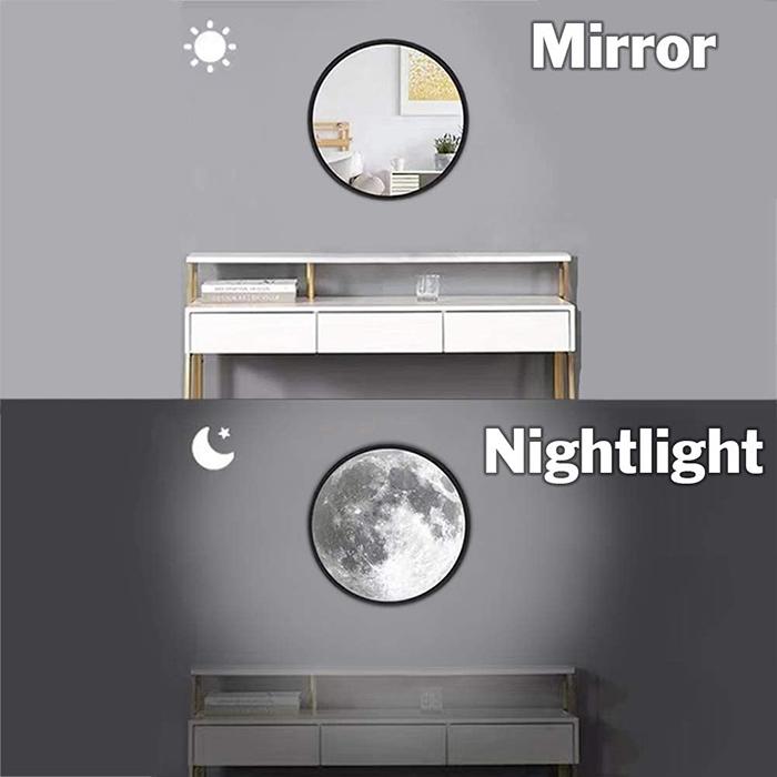 moon mirror night-light