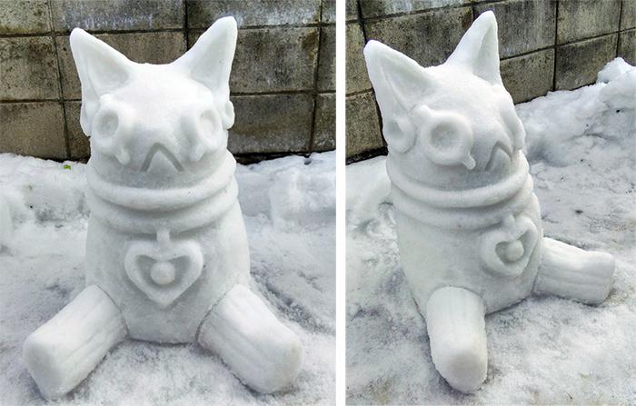 oh, suddenly egyptian god bastet sculpted ice figure