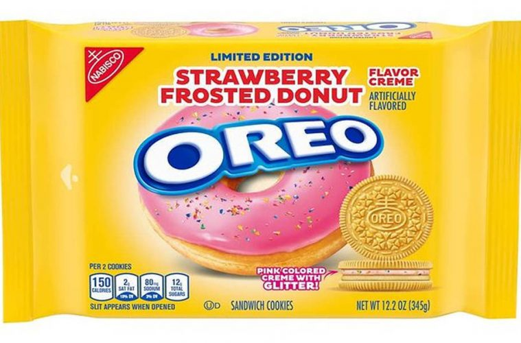 oreo Strawberry Frosted Donut Flavor
