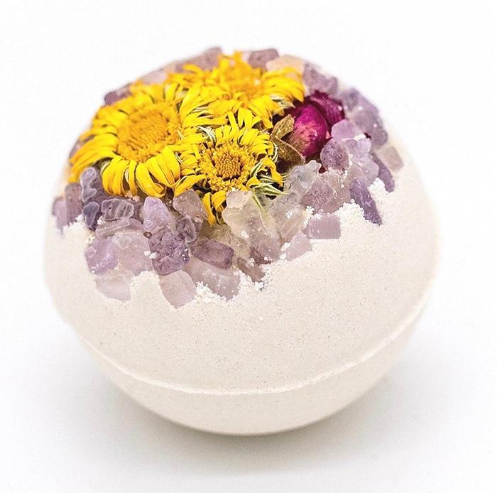 organic calendula bath bomb