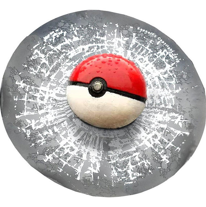 pokeball splat prank sticker