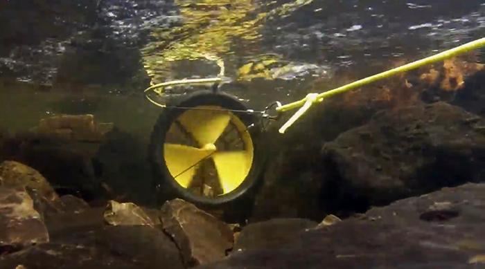 portable turbine underwater