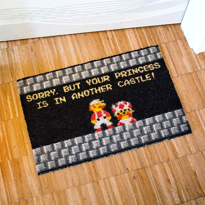princess is in another castle doormat funny
