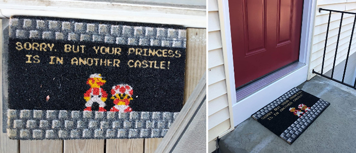 princess is in another castle doormat super mario