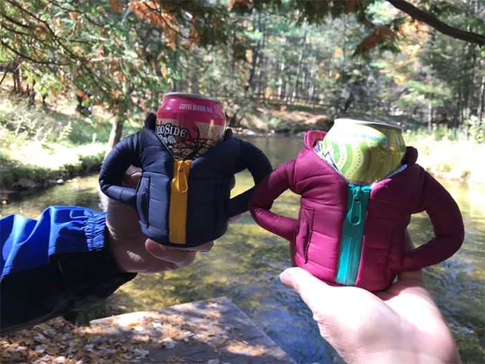 puffer jacket for canned drinks