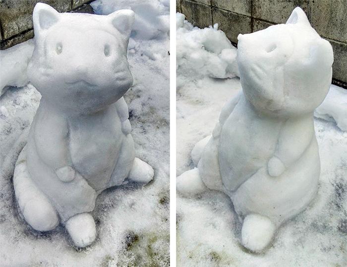 rascal the raccoon sculpted ice figure