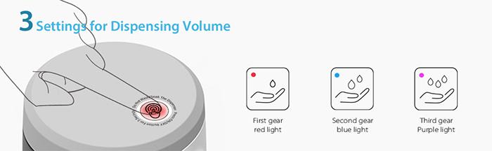 settings for dispensing volume