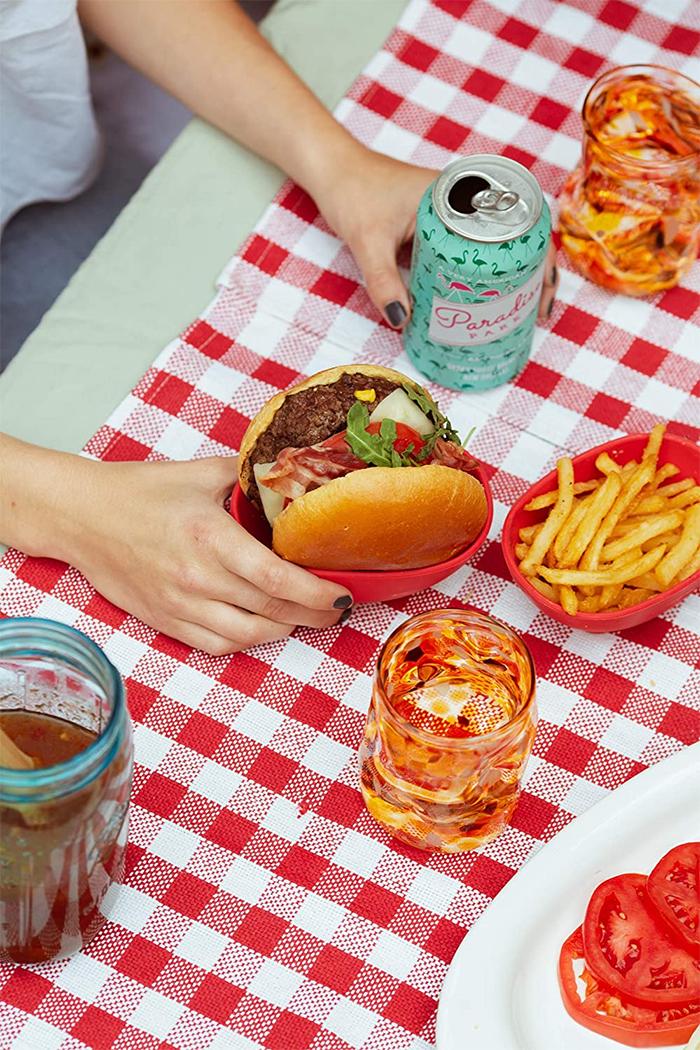 silicone burger holder