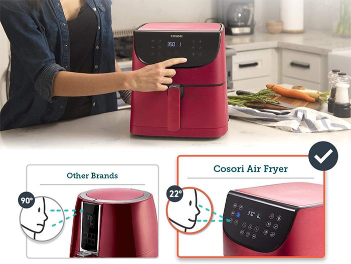 smart kitchen appliance angled display
