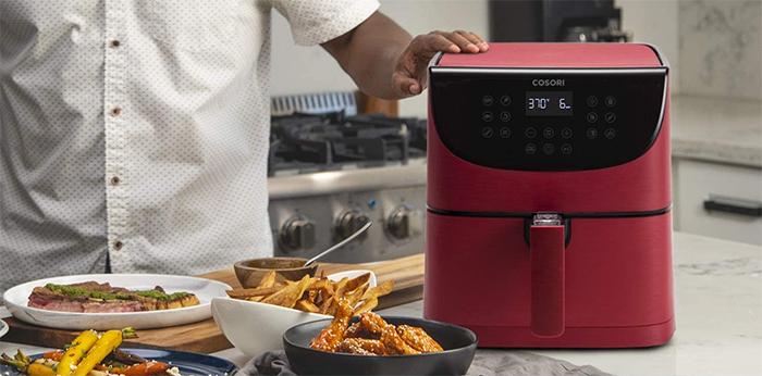 smart kitchen appliance red