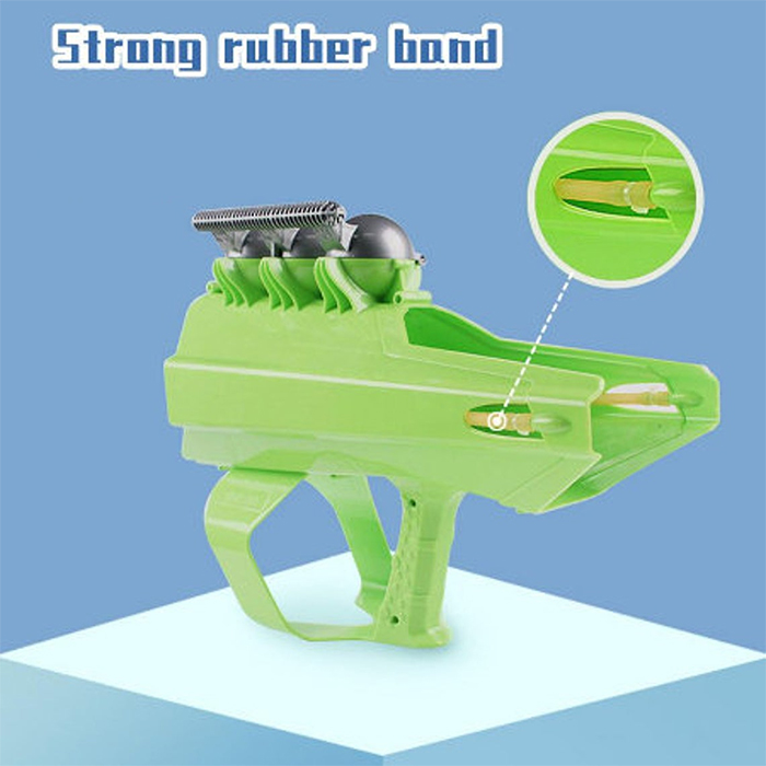 snow blaster toy with rubber band