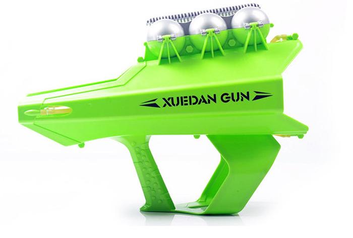 snowball slingshot launcher flourescent green