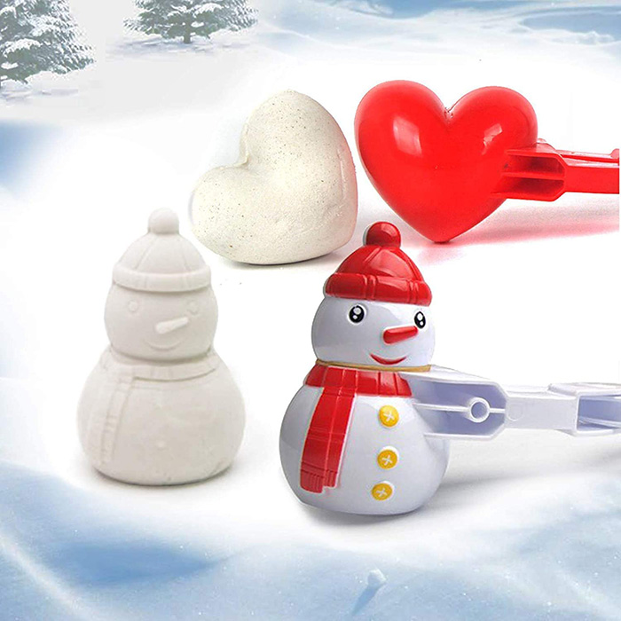snowman and heart plastic mold with grips