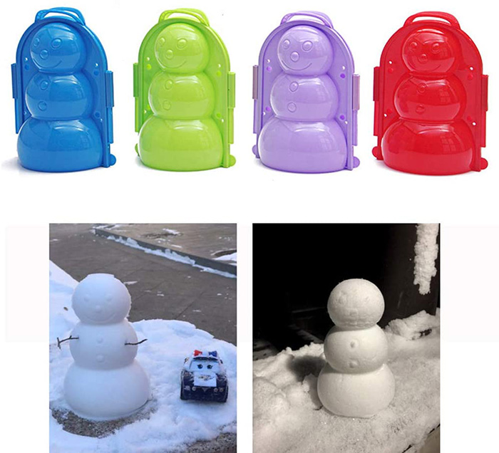 snowman plastic mold with grips