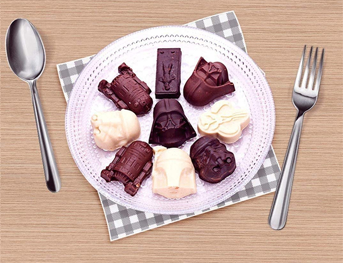 star wars-shaped sweets