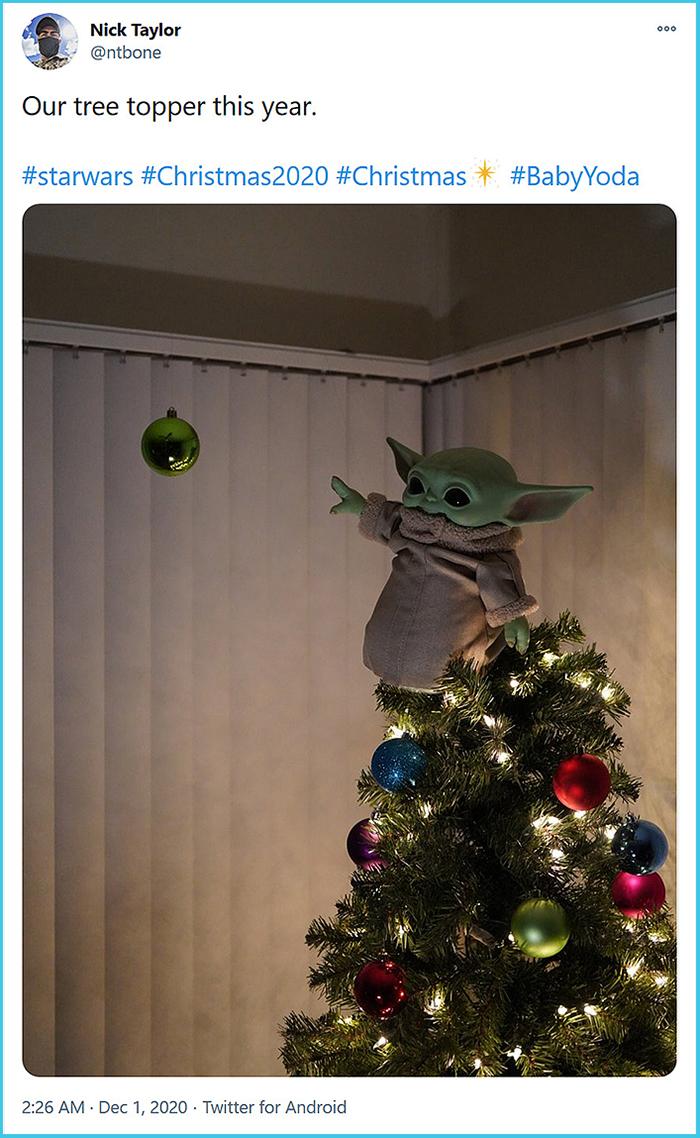star wars the child holiday decor