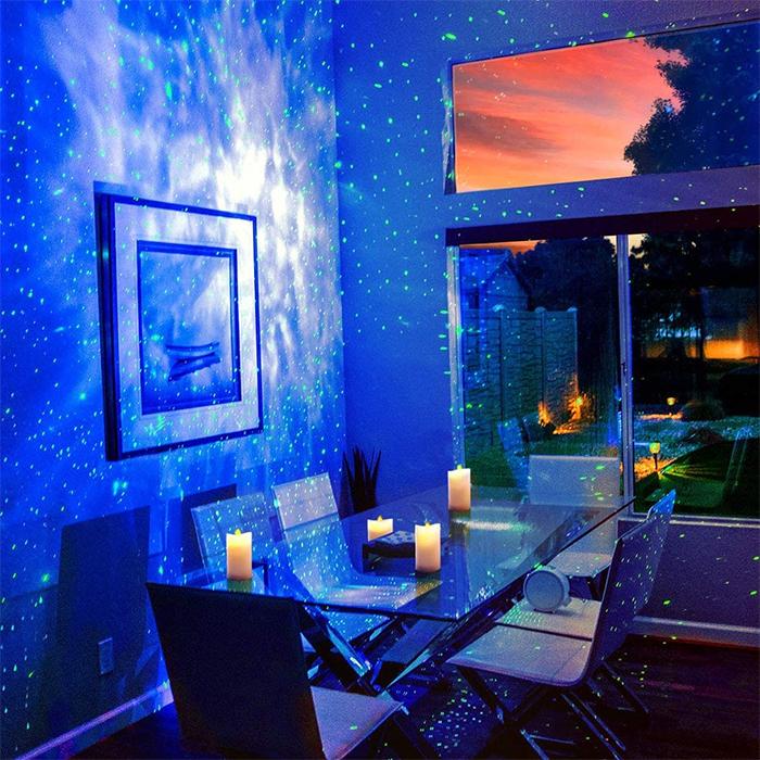 starry night sky projector dining room