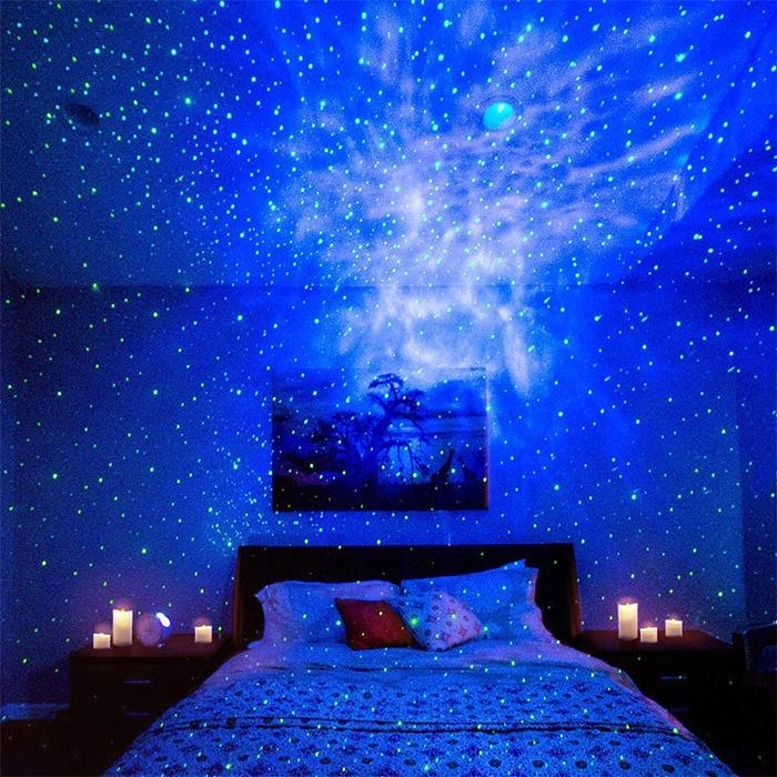 starry night sky projector green
