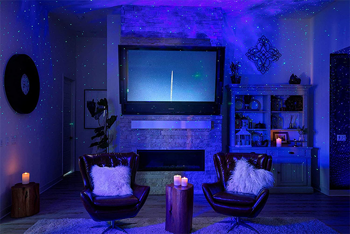 starry night sky projector relaxing space